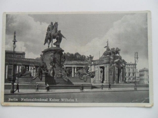 BERLIN NATIONALDENKMAL KAISER WILHELM I (1939)